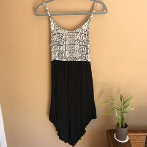 Amuse Society Black & Geometric Print Dress